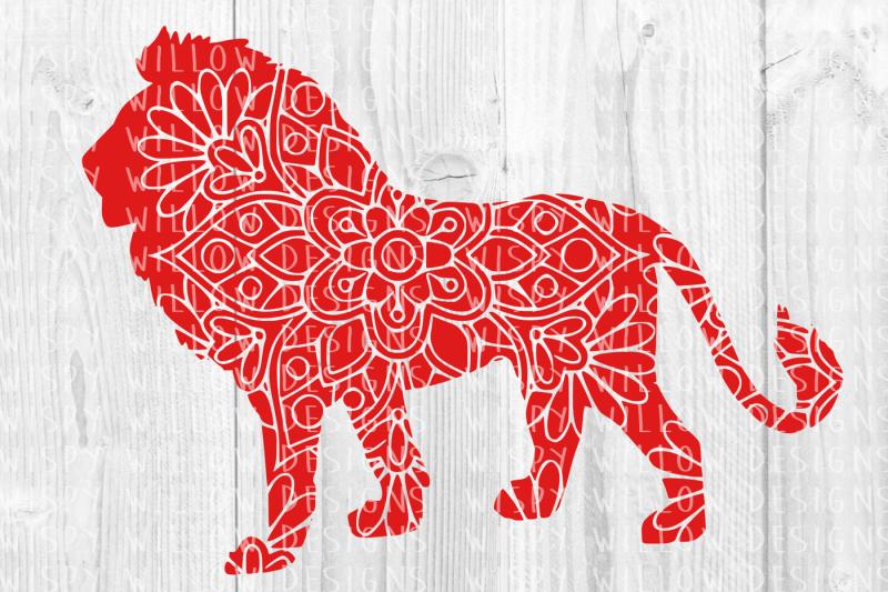 Download Free Lion Floral Mandala SVG/DXF/EPS/PNG/JPG/PDF Crafter ...