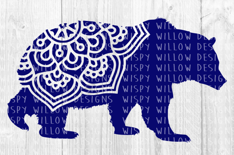 bear mandala svg  dxf  eps  png  jpg  pdf by wispy willow