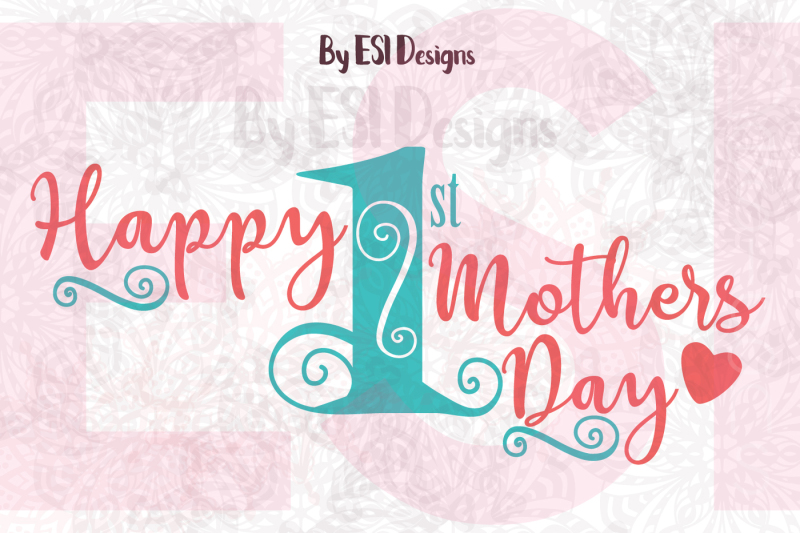 Free In the beginning it wasonly you. Happy First Mothers Day Quote Design Svg Dxf Eps And Png Download Free Svg Files Creative Fabrica SVG, PNG, EPS, DXF File