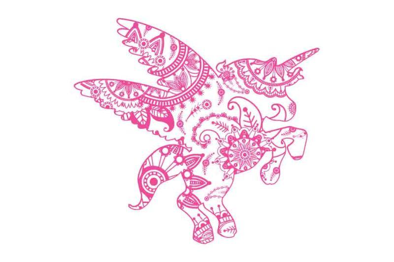 Free Mandala Unicorn Svg Dxf Eps Png Ai Crafter File Svg Images Cut Files