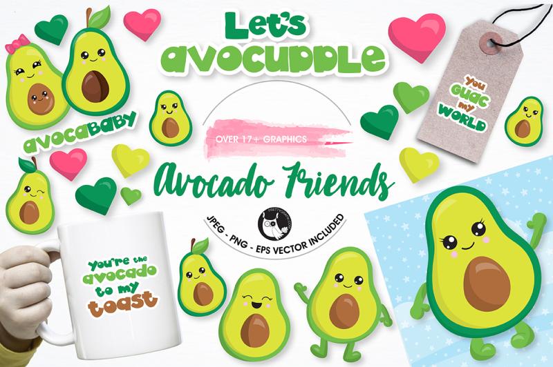 Avocado Graphics And Illustrations By Prettygrafik Design