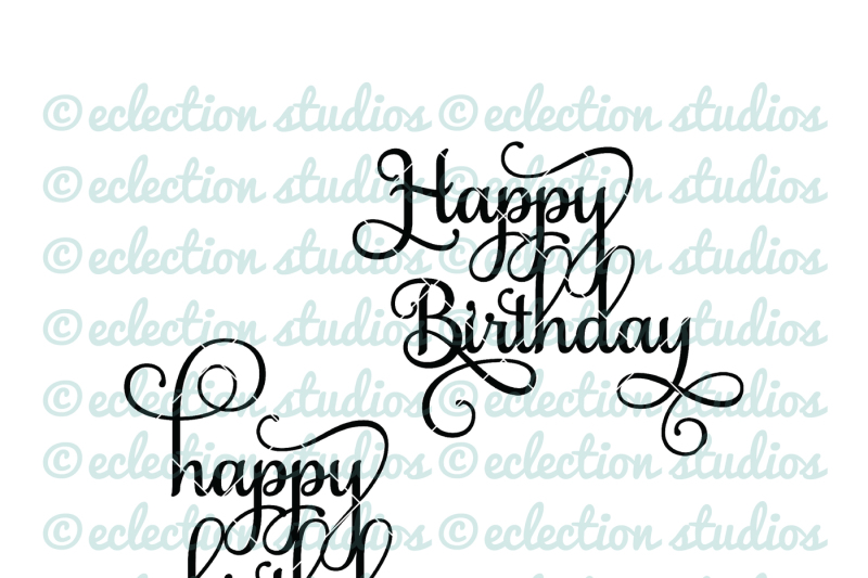 Free Happy Birthday Cake Topper Svg Crafter File Free Svg Cut