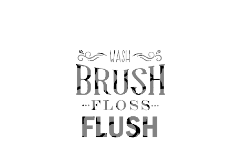 image about Wash Brush Floss Flush Free Printable titled Clean Brush Floss Flush - Simplest Cost-free SVG Slash Information Cricut