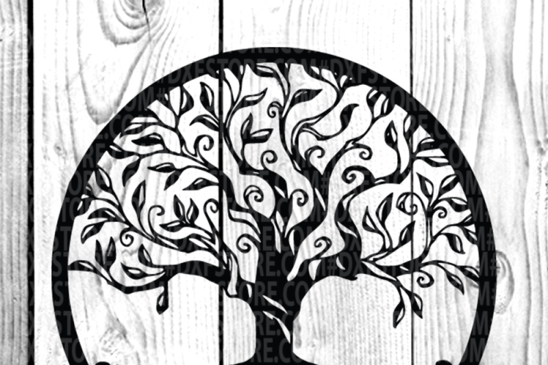 Free Tree Life Of Tree Family Tree Svg Dxf Eps Png For Cricut And Sihlouett Crafter File New Free Svg Files Cut Silhoeutte