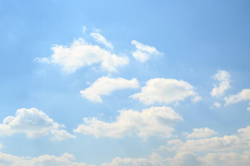 Free Images : horizon, light, cloud, sky, white, sunlight ...  |Light Blue Sky Clouds