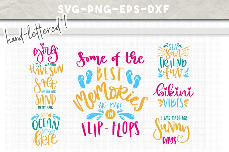 Free Summer Svg Bundle Summer Quotes Handlettered Cut Files Svg Svg Files Vector Free Download