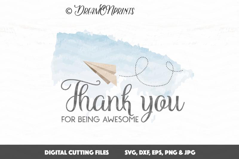 Free Thank You Svg Paper Plane Svg Cut File Svg Free Cricut