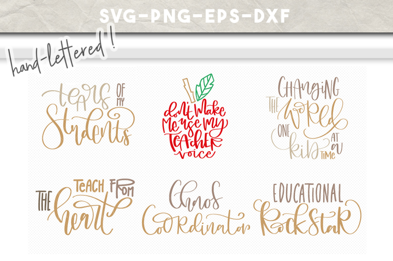 Free Teacher Appreciation Svg Bundle Handlettered Svg Crafter File Free Svg Cut Files Create Your Diy Projects