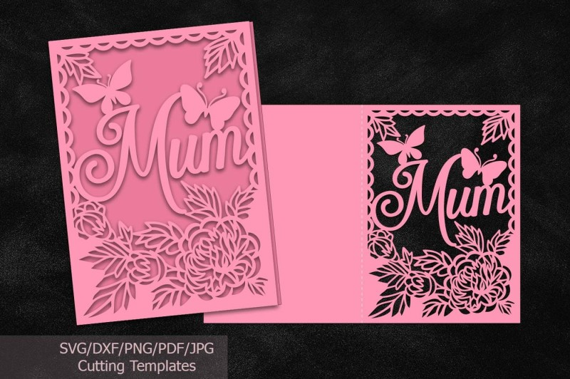 Free Mothers day cards svg files, file, mom, mum, cutting template