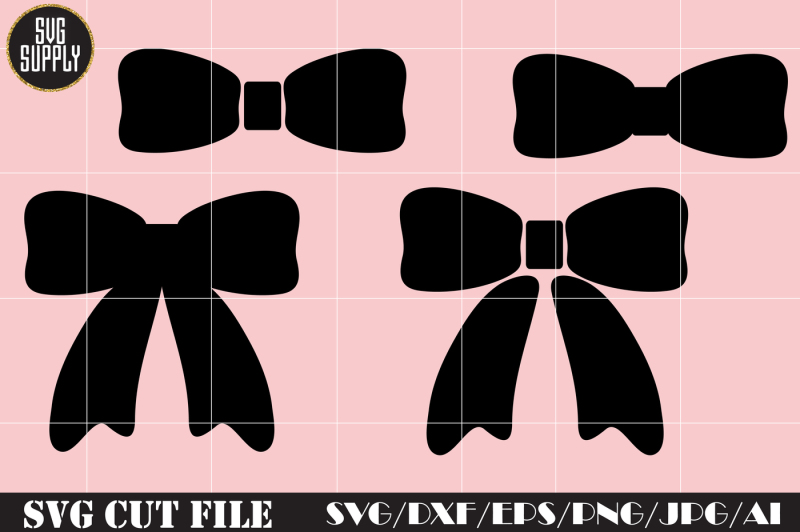 Free Bow Svg Cut File Set Crafter File Download Svg Cut Files