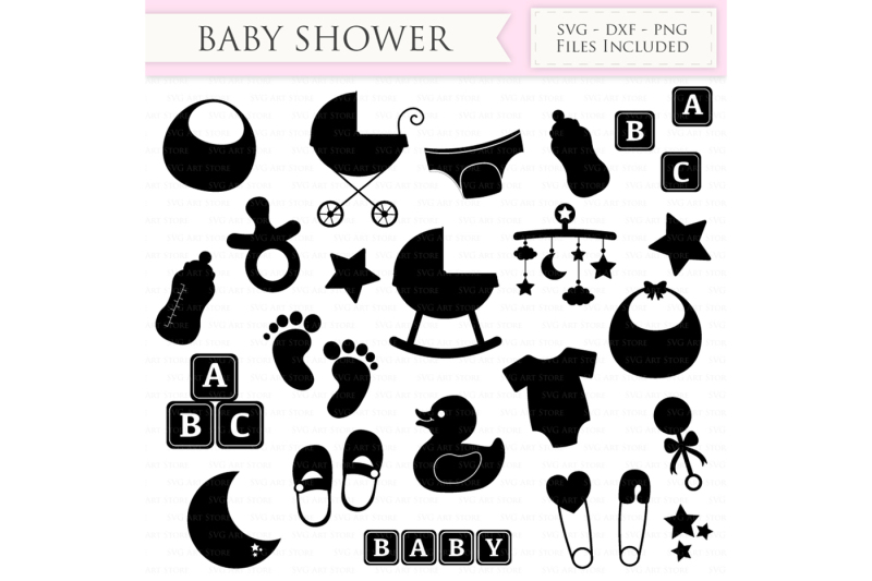 Baby Shower SVG Files New baby SVG Cutting File Design