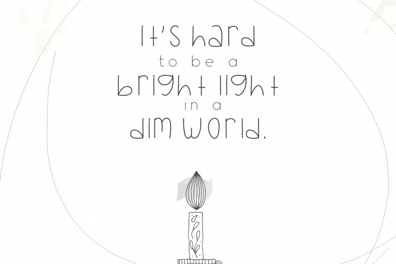 Bright Lights A Handwritten Font By Ka Designs Thehungryjpeg Com