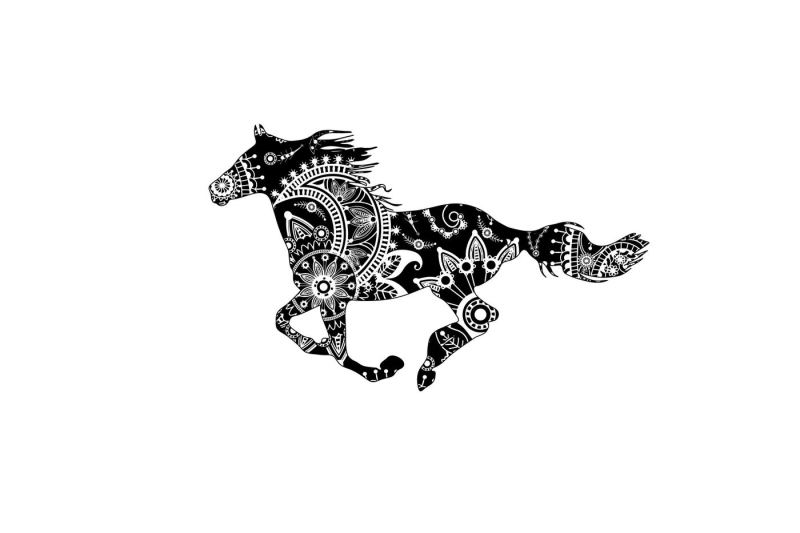 Free Mandala Horse Svg Dxf Eps Png Ai Crafter File Best Free Svg Cut Files