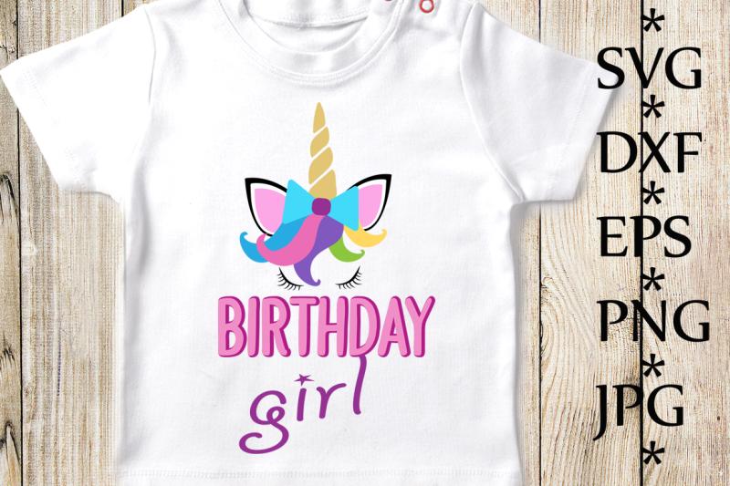 Free Unicorn Svg,Birthday girl Svg,Unicorn Birthday Svg