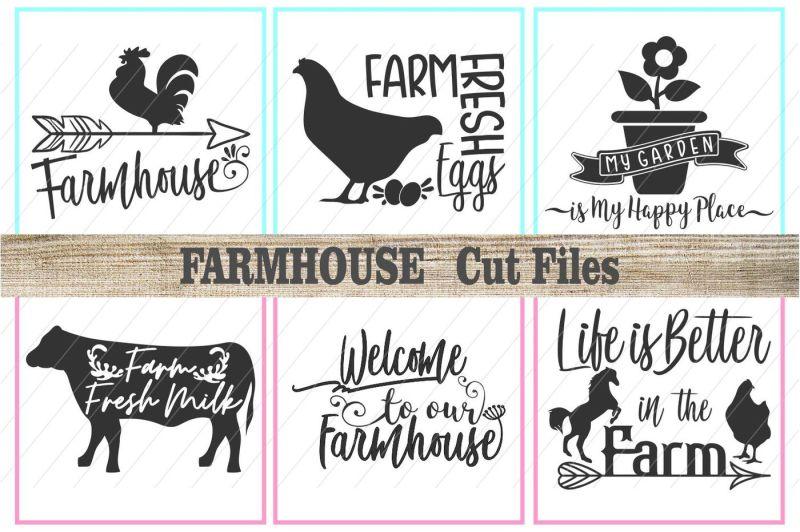 farm svg, farmhouse svg, farm signs, cut files Scalable Vector