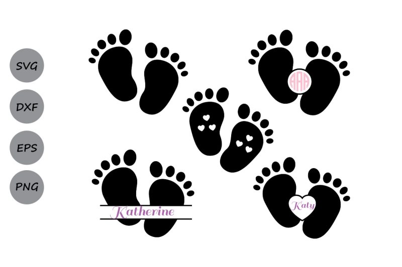 Free Baby Footprint Svg File Baby Feet Svg Dxf Baby Feet Monogram Svg Crafter File Download Free Svg Cut Files Cricut Silhouette Design