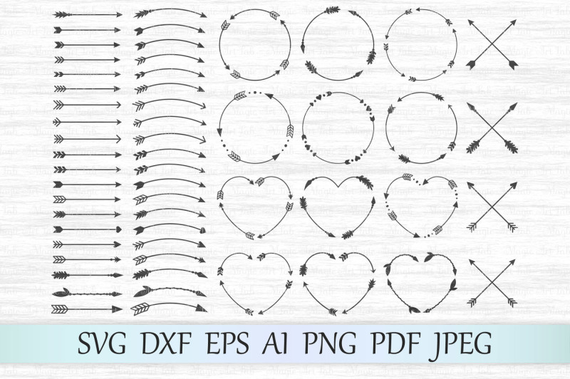 27+ Monogram Arrow / Svg Png Dxf Jpeg Cutting File Image