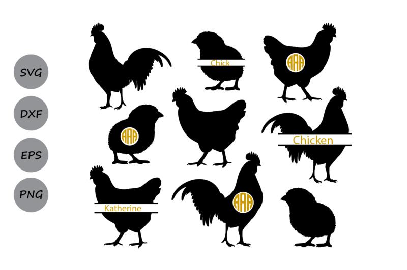 Free Chicken Svg Chicken Monogram Svg Rooster Svg Hen Svg Farm Svg Crafter File Best Free Svg Cut Files