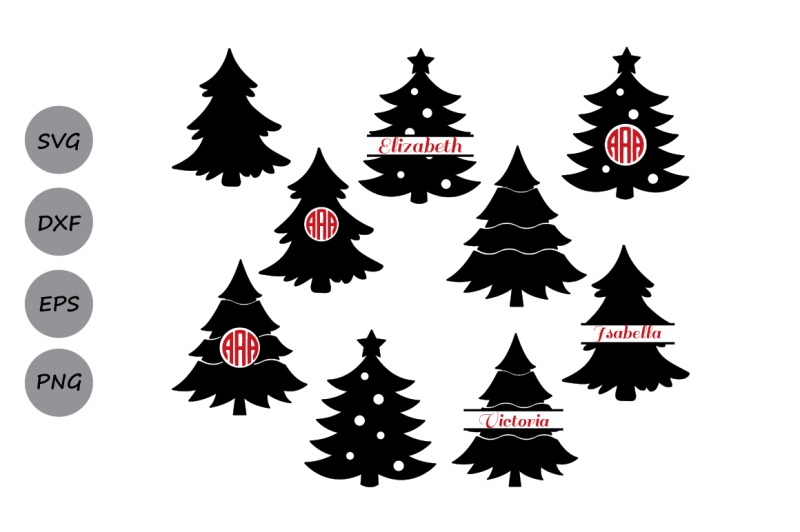 Christmas Tree Svg Free Download.Free Christmas Tree Svg Christmas Tree Monogram Svg