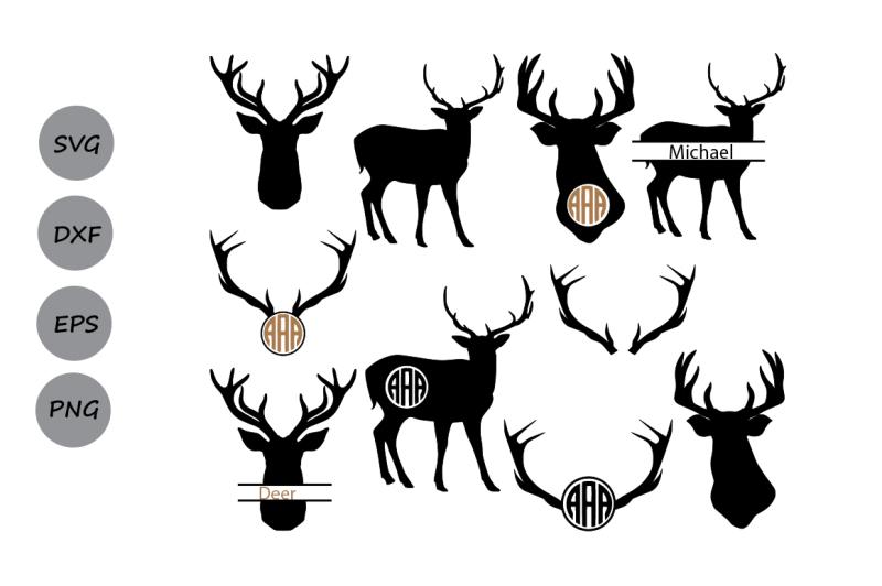 Free Deer Silhouettes Svg Deer Svg Deer Svg Cutting Files Deer Monogram Crafter File Download Best Free 16483 Svg Cut Files For Cricut Silhouette And More