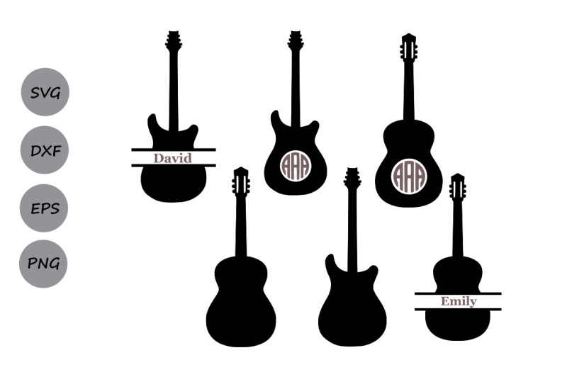 laser cutting design svg file for cricut floral guitar svg pdf dxf file papercutting template decorative zentagle guitar commercial