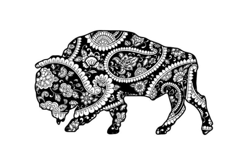 Free Mandala buffalo SVG DXF PNG EPS AI Crafter File - 3D SVG File