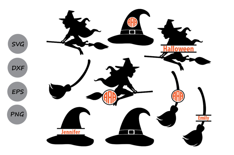 Free Witch Svg Files Halloween Svg Witch Monogram Svg Witch Hat Svg Crafter File Great Places To Download Free Svg Files Cut Cut Craft