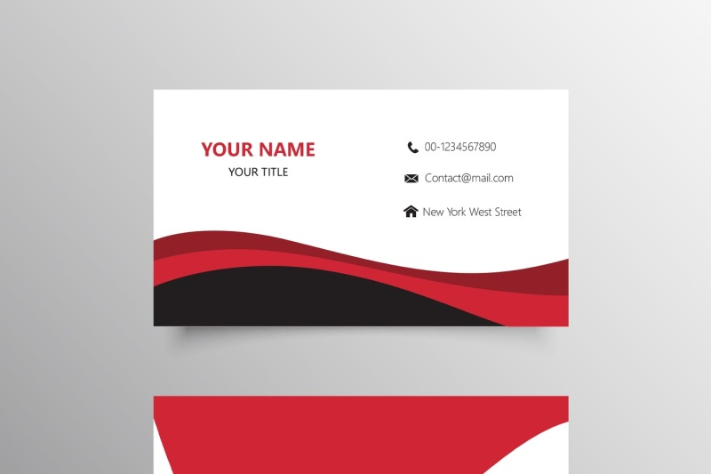 Professional Red Business Card Template By Creativedesign