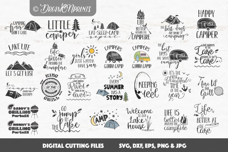 Free Camping Svg Bundle Crafter File Free Svg Cut Files