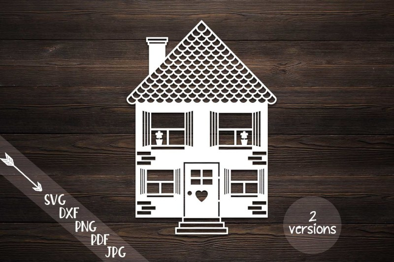 Free House Svg Home Svg Building Cut File Papercut Papercutting Template Crafter File Free Svg Cut Files Png Images