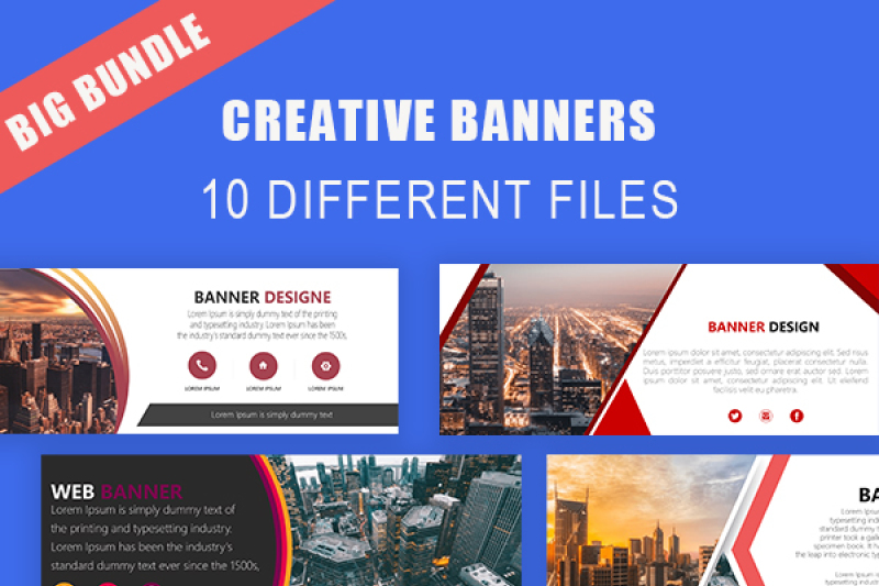 Creative Online Website Banner Template By Creativedesign Thehungryjpeg Com