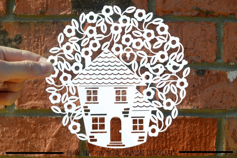New Home Paper Cut Svg Dxf Eps Files