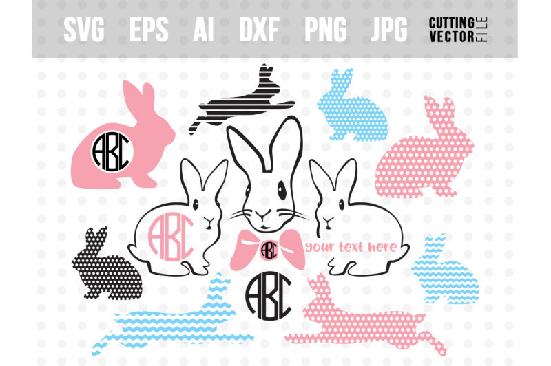 Bunny Vector Bundle - svg, eps, ai, dxf, png, jpg - Free SVG