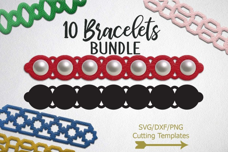 Free Cuff Bracelet, Leather, Jewelry Templates, svg dxf cutting