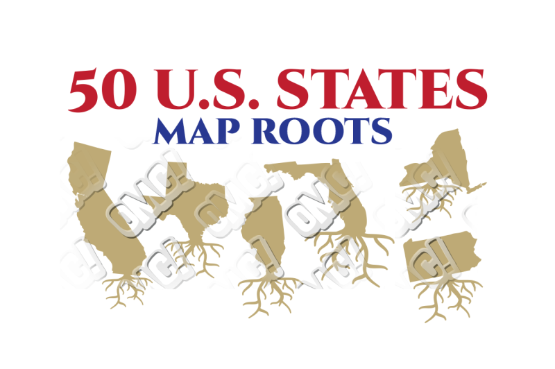 Free US State Map Root America Bundle in SVG/DXF/PNG/JPEG/EPS ...