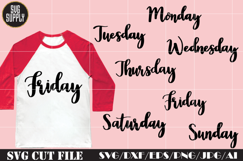 Free Days Of The Week Svg Free Svg File Download