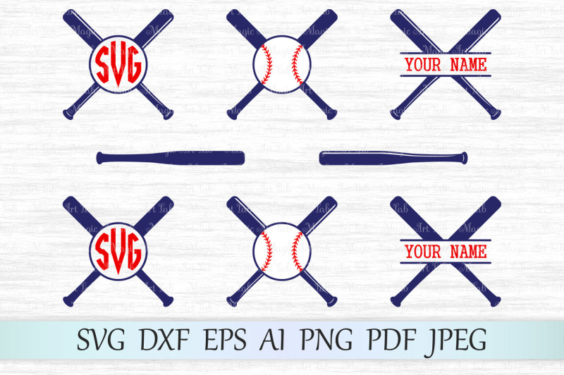 Free Baseball Bat Monograms Svg Dxf Eps Ai Png Pdf J Crafter File Best Free Svg Cut Files
