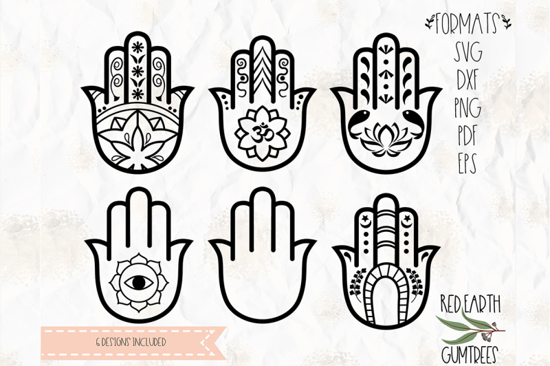 7ac1f9ea Free Hamsa collection SVG, PNG, EPS, DXF, PDF for cricut, cameo ...