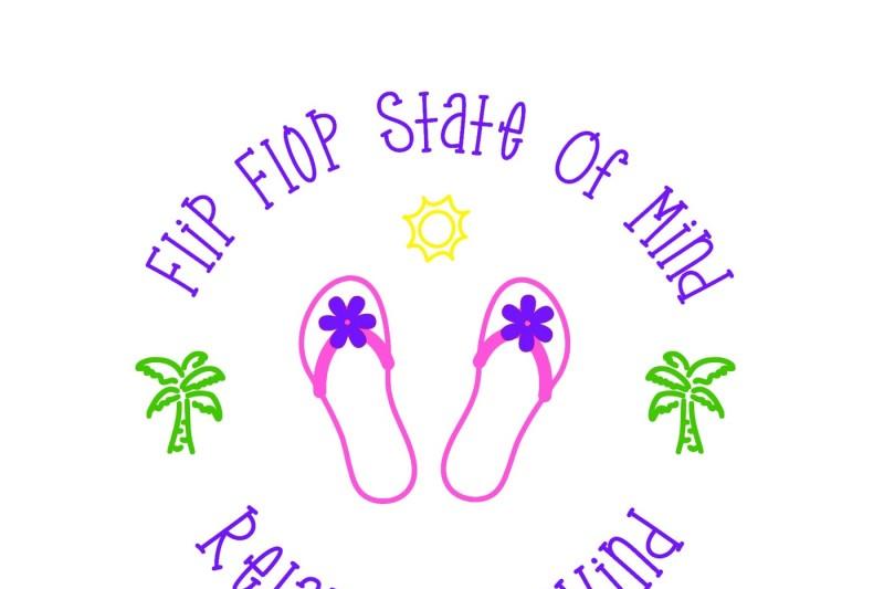 6ffab7785 Flip Flop state of mind SVG By Jen DCD