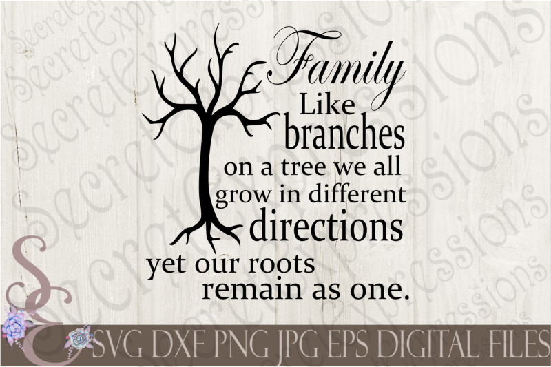 Family Like Branches Svg By Secretexpressionssvg Thehungryjpeg Com