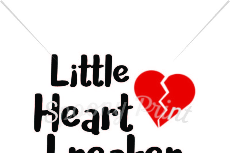 Little Heart Breaker Printable By Spoonyprint Thehungryjpeg Com
