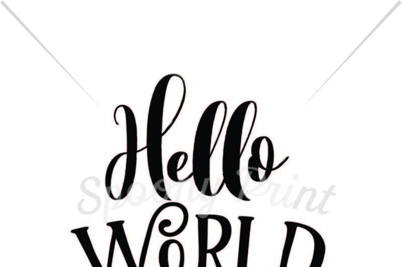 Hello World Printable By Spoonyprint Thehungryjpeg Com