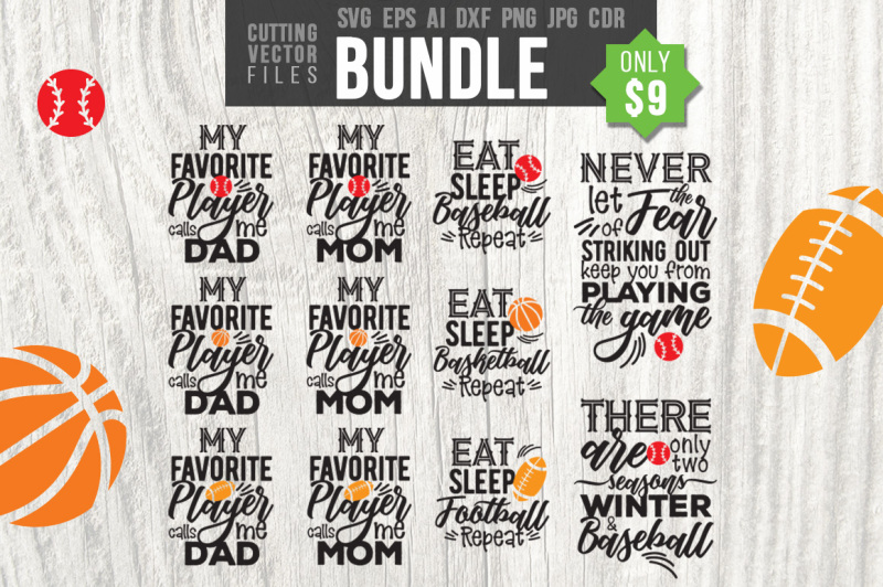 Free Sport Bundle Svg Eps Ai Cdr Dxf Png Jpg Crafter File Download Free Svg Cut Files Cricut Silhouette Design