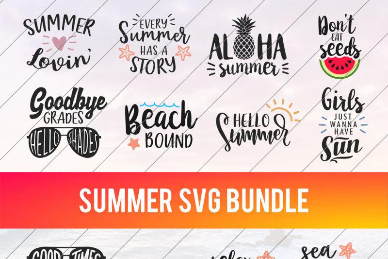 Free Summer Svg Beach Svg Summer Bundle Svg Vacation Svg Beach Life Crafter File Sownload Free Svg Cut Files