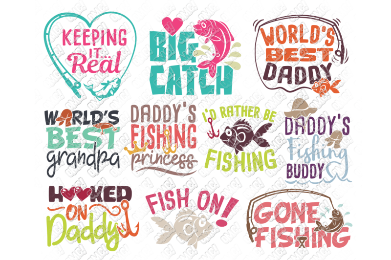 Father S Day Fishing Svg In Svg Dxf Png Jpeg Eps