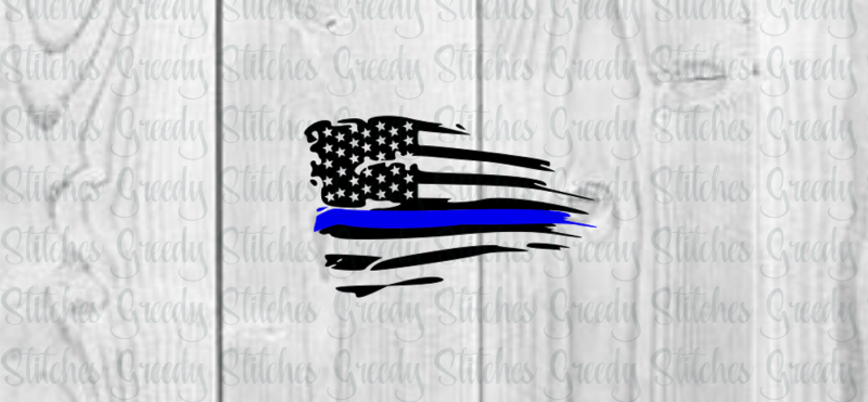 Free Distressed American Flag With Thin Blue Line Svg Printable Svg Free Svg Files Images Cut Files