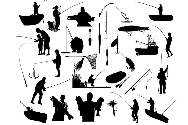 Free Fishing Silhouette Svg Dxf Png Eps Crafter File Download Free Svg Cut Files Create Your Diy Projects Using Your Cricut Explore Silhouette