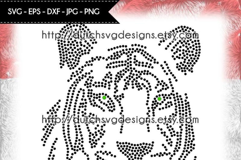 Hotfix rhinestone (SS10) tiger pattern, rhinestone template