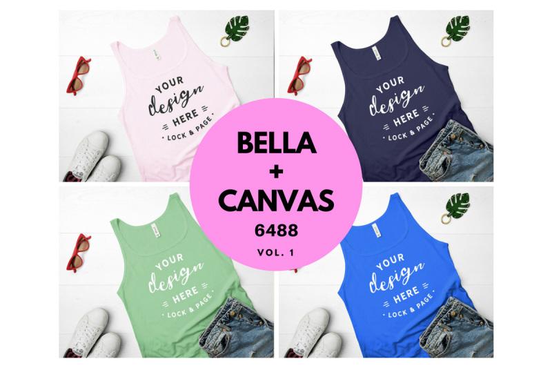 2769d4813 Bella Canvas 6488 Tank Top Mockup Bundle Vol. 1 By Lock and Page ...