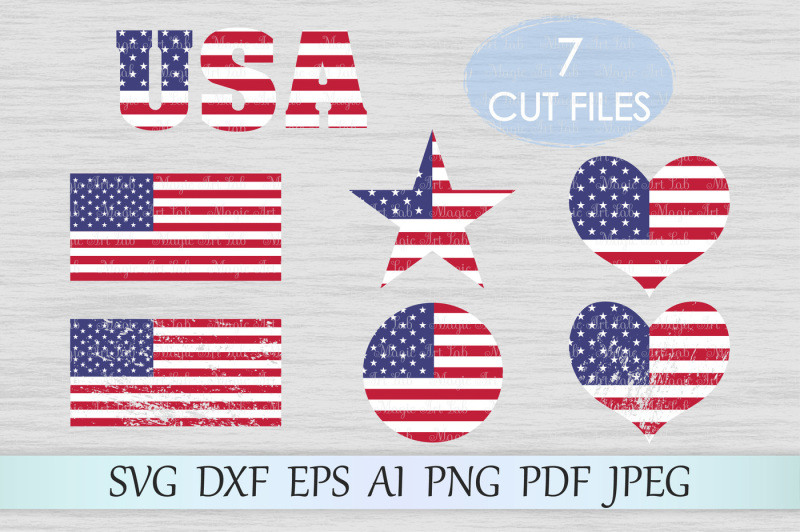 Free American Flag Svg Dxf Eps Ai Png Pdf Jpeg Crafter File Free Svg Cut Files Lovesvg